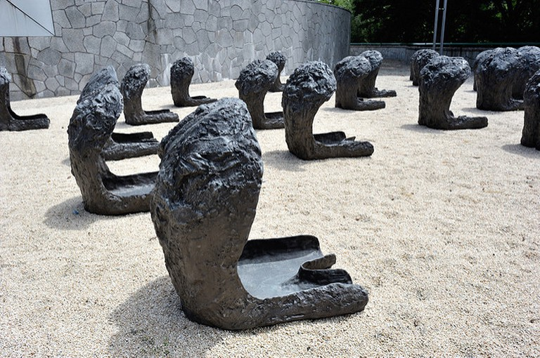 Space Of Becalmed Beings by Magdalena Abakanowicz