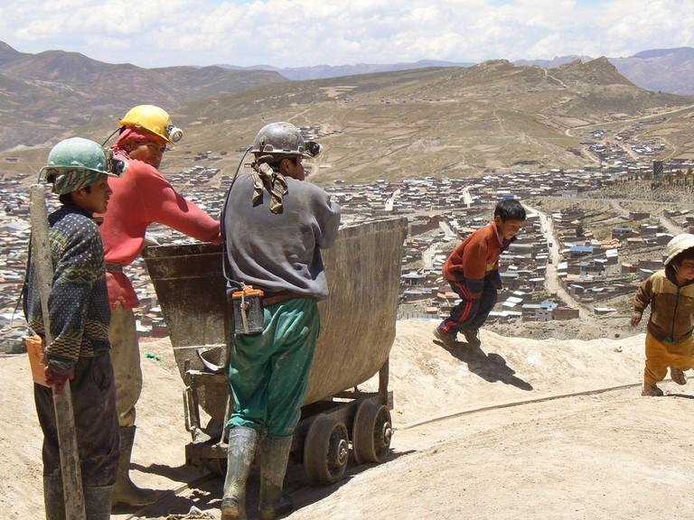 Miners in Cerro Rico, Potosi
