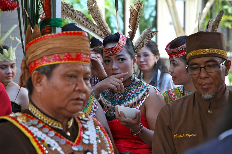 Dayak Tribe in Palangkaraya, Indonesia