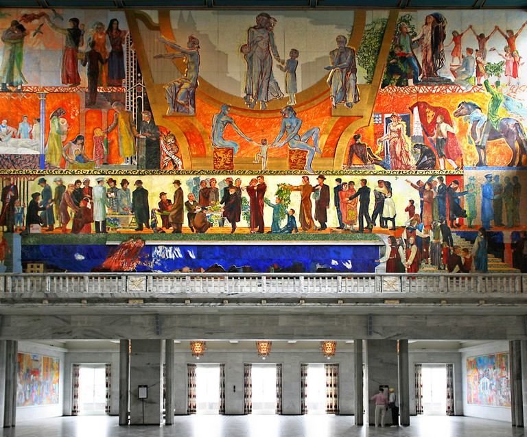 Mural in the main hall