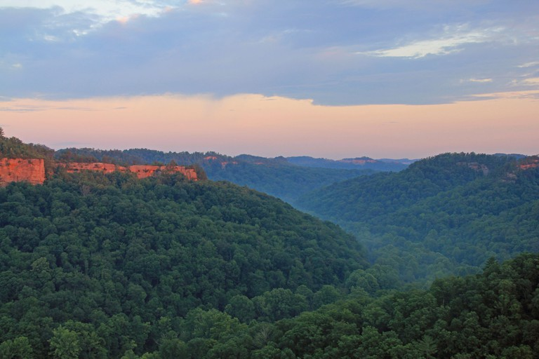 View from Chimney Top Rock at Red River Gorge