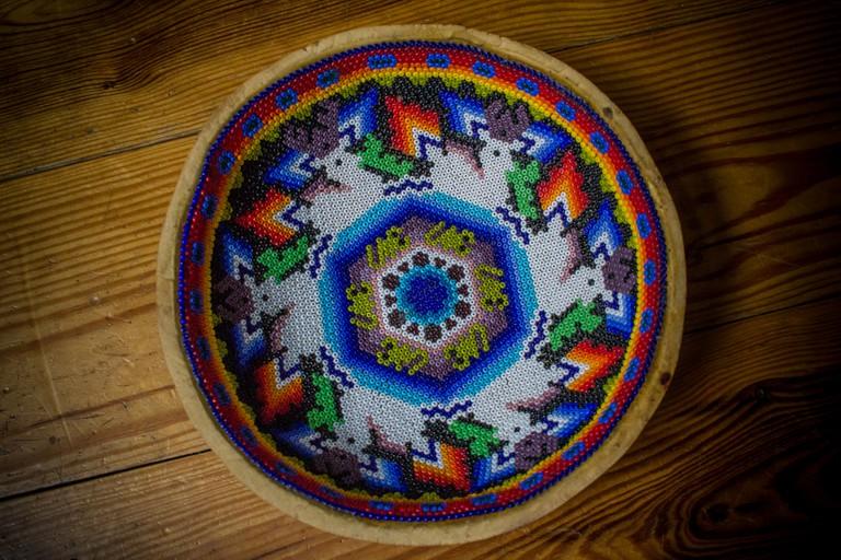 Huichol gourd bowl