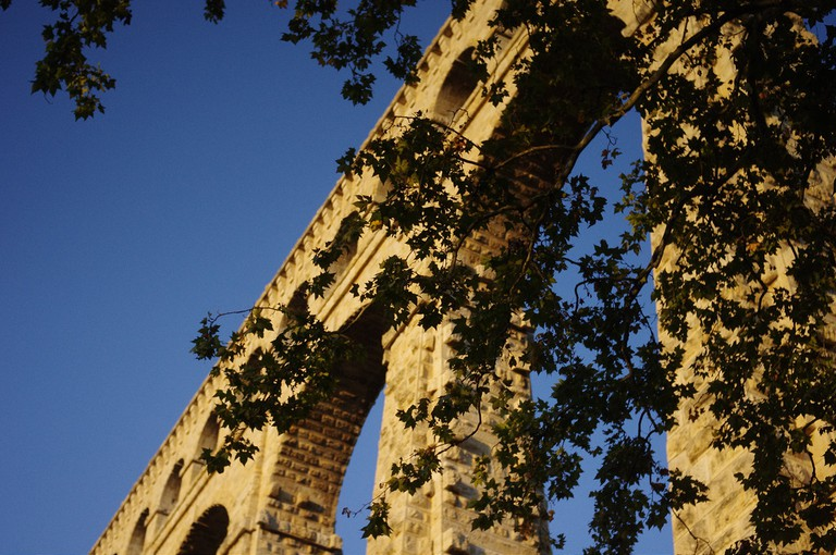 The Aqueduct Roquefavour is much bigger than the more famous Pont du Gard in Avignon