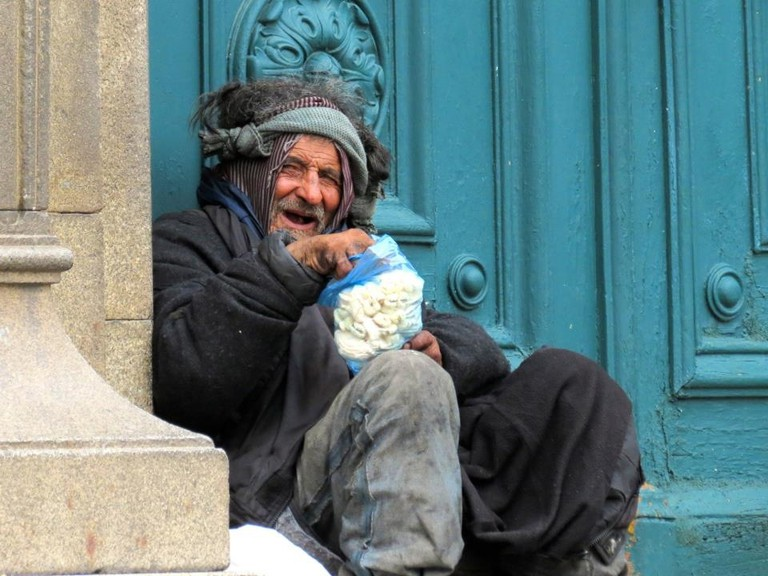 Homeless guy in La Paz