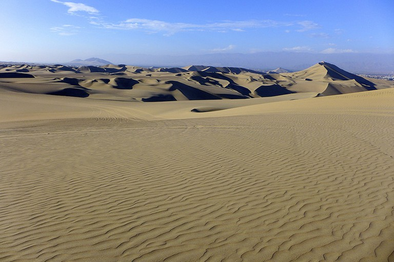 The sand dunes of Huacachina