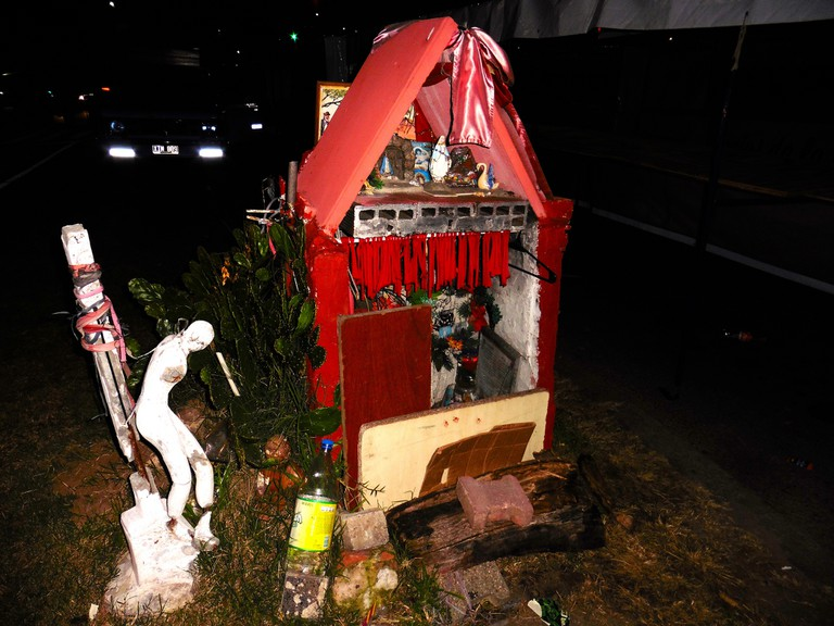Roadside altars paying tribute to Gauchito Gil pop up all over the country
