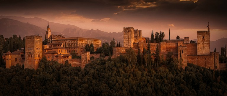 The Alhambra, Granada, one of Spain's most popular tourist sites