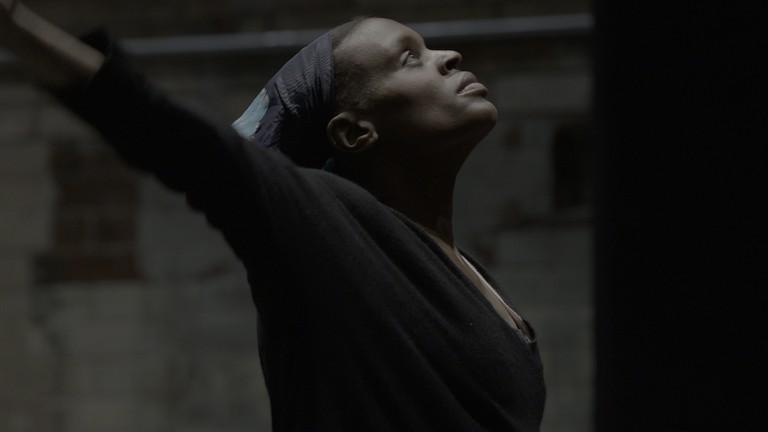 Okwui Okpokwasili rehearses in Bronx Gothic