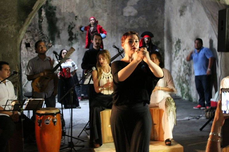 Artistic performance in San Juan de Ulúa