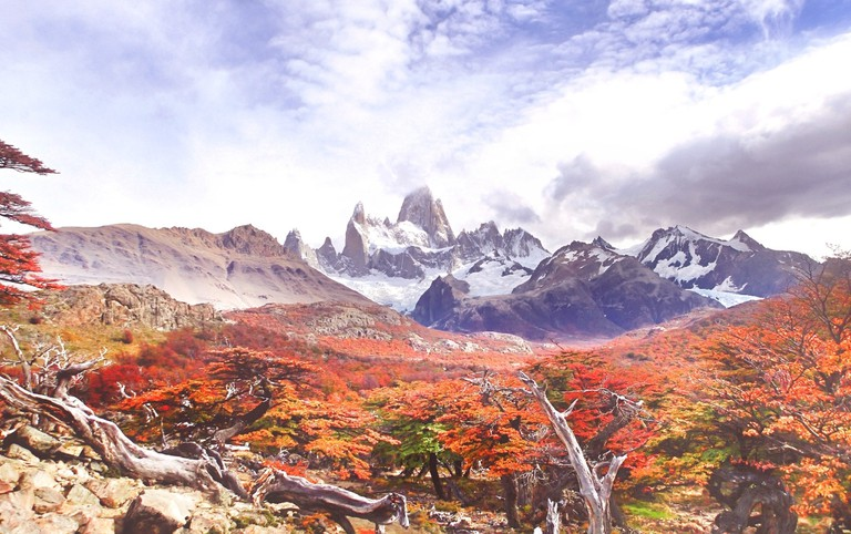 The changing of the seasons in Patagonia