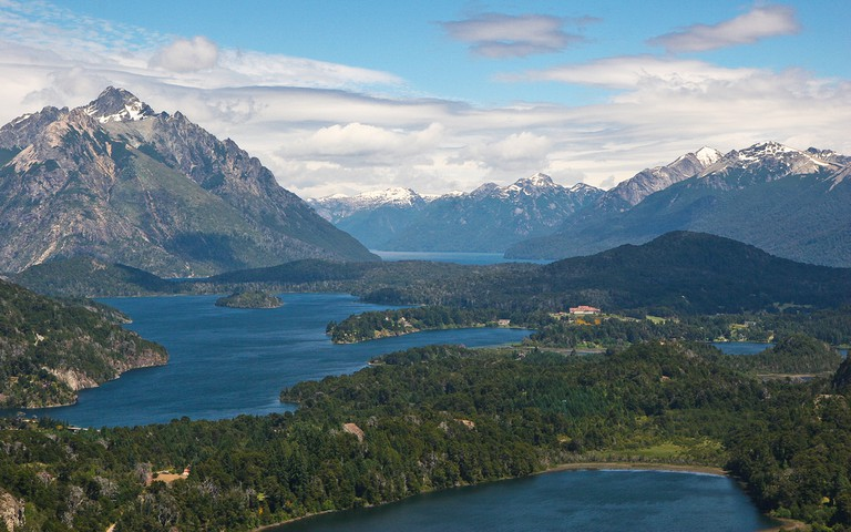 Breathtaking views out over the seven lakes in Bariloche