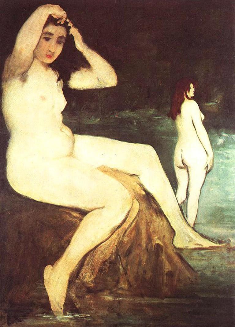 Bathers on Seine, Édouard Manet