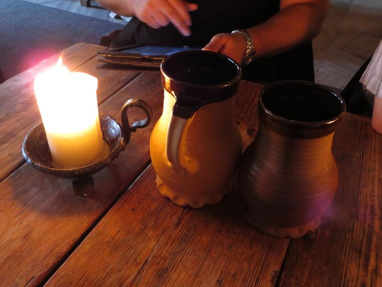 Beer served in mugs