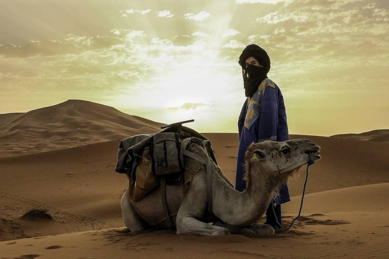 Berber and camel
