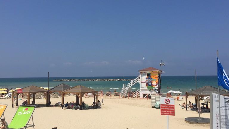The beaches of Tel Aviv. Photo: Becca Gomby