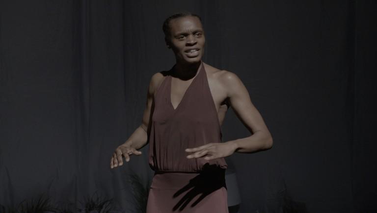 Okwui Okpokwasili on stage in Bronx Gothic