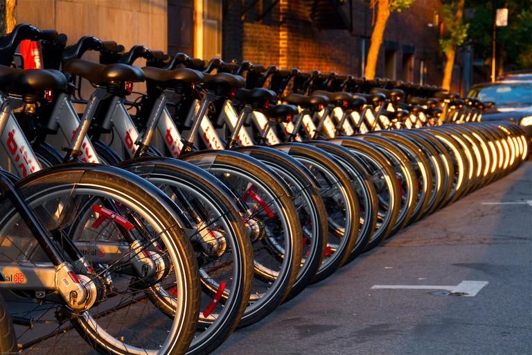 BIXI rental bikes in Montreal
