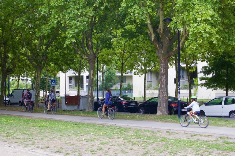 Bordeaux is very bicycle-friendly/