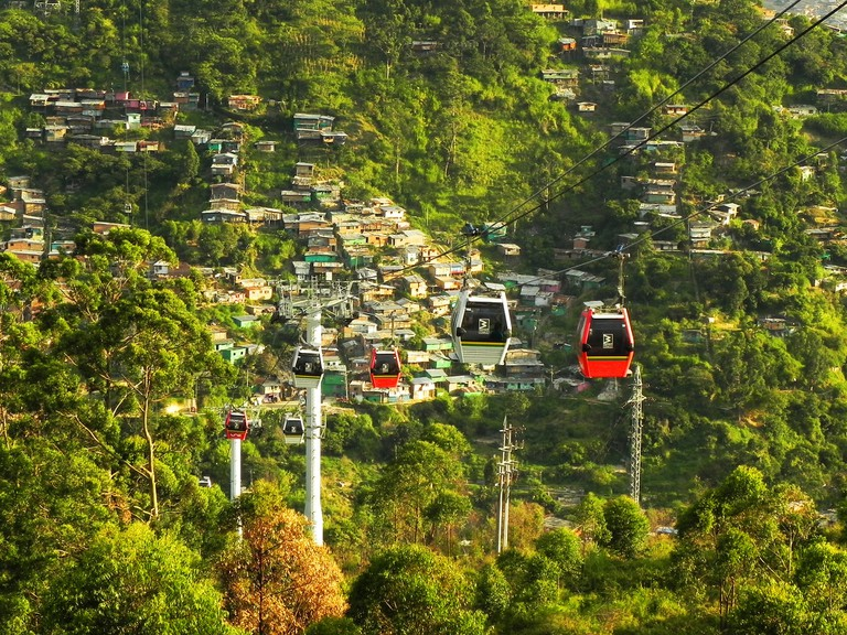 The innovative Medellin cable-car network has connected marginalised communities with the city