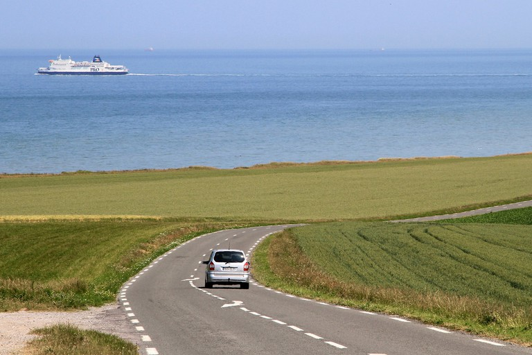 Driving from Calais