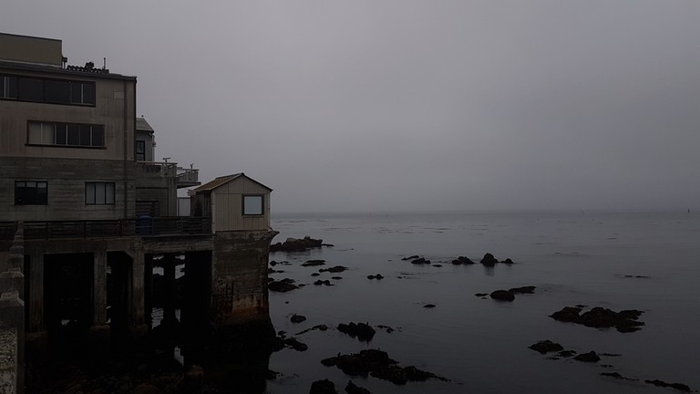 Overlooking the Pacific in Monterey at Cannery Row