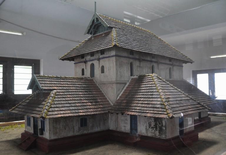 Replica of the original structure of the Cheraman Juma Masjid