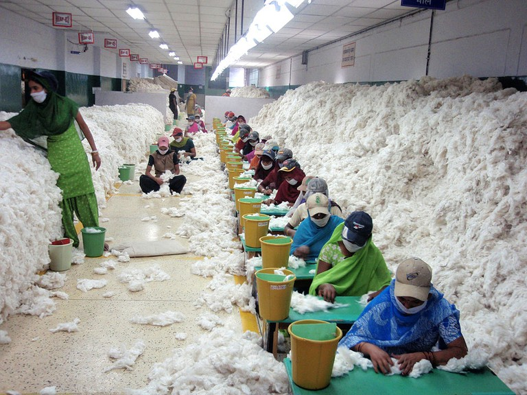 Cotton spinning in India