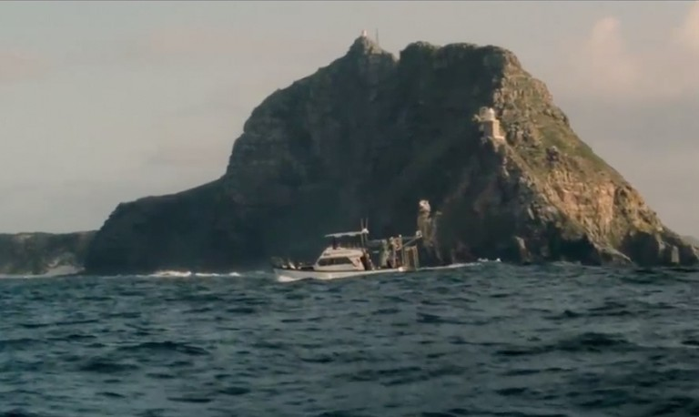 Scene from Dark Tide featuring Cape Point