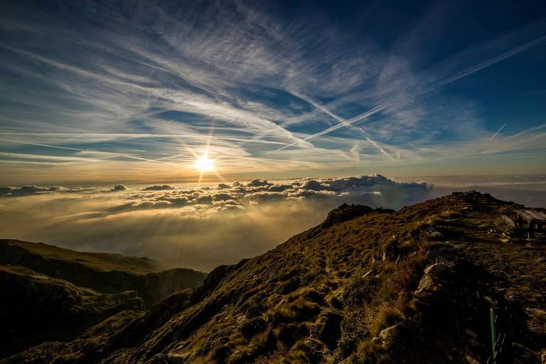 Dawn over mountains