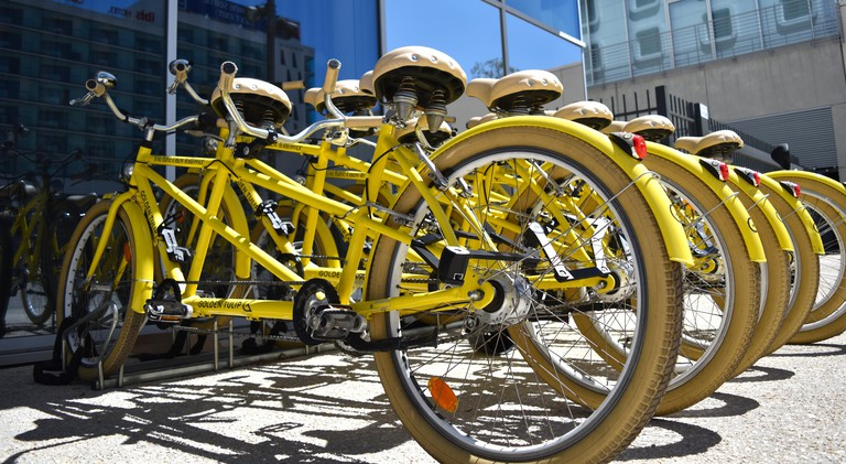 You can hire tandem bikes at the Golden Tulip to explore the city together