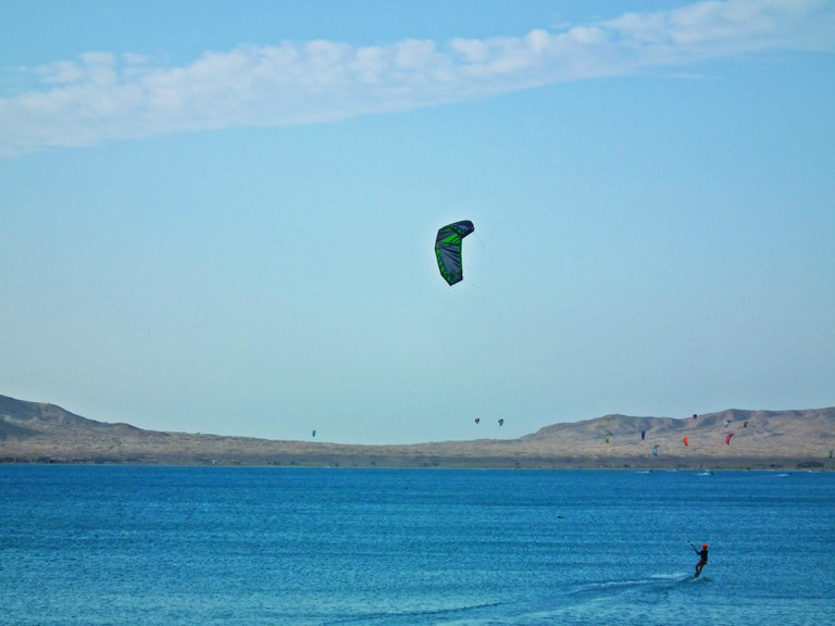 Learning to kite-surf in Cabo de la Vela
