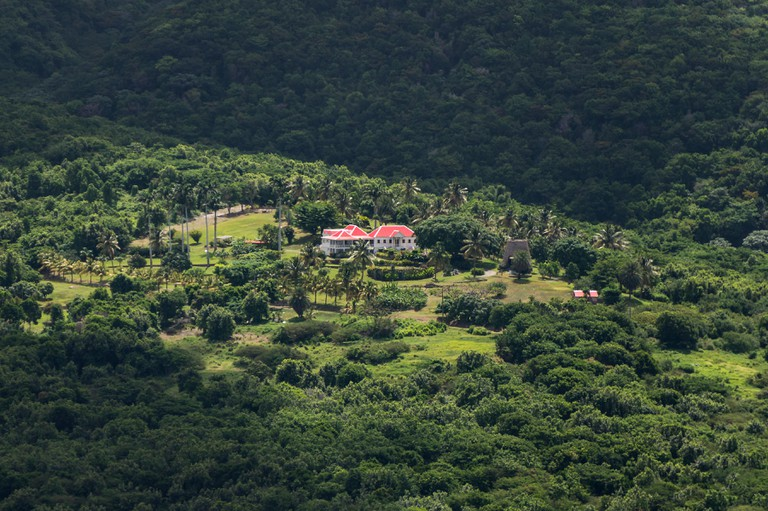 Montserrat, Caribbean - green landscape where the 1995 eruptions did not destroy everything.