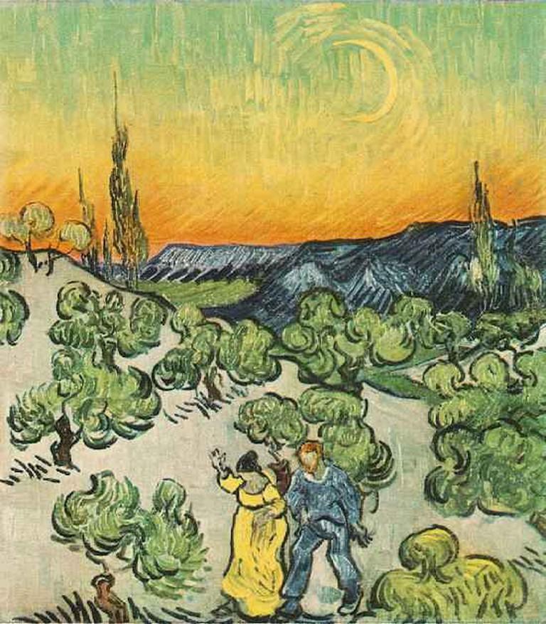 A Walk at Twilight, Vincent van Gogh