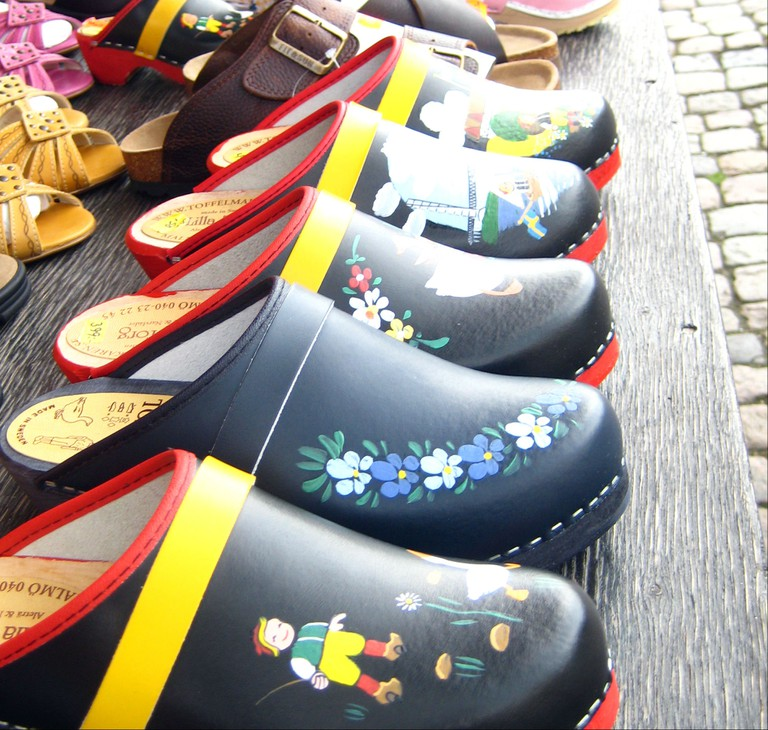 Handmade and hand painted clogs