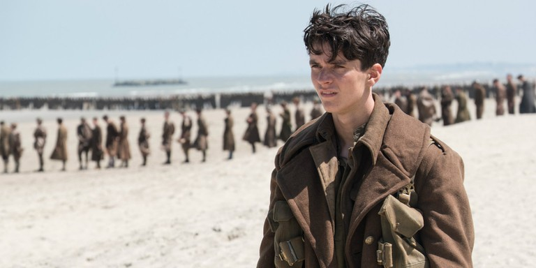 Fionn Whitehead as Tommy in Dunkirk
