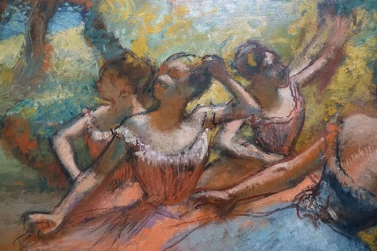 Four Ballet Dancers on Stage, Edgar Degas