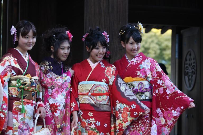 Wearing furisode or Seijin no hi (Coming of Age Day)