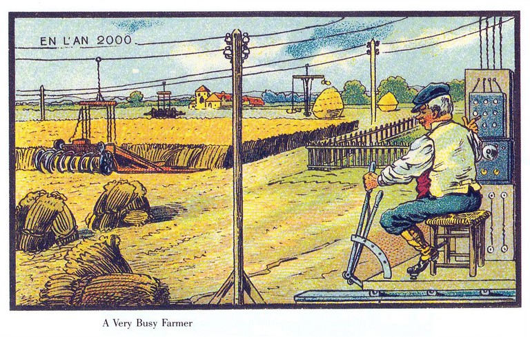 France in the year 2000 – Very busy farmer │© Jean-Marc Côté / Wikimedia Commons