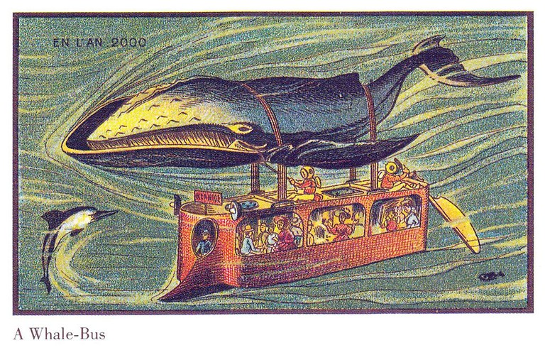 France in the year 2000 – Whale-bus │© Jean-Marc Côté / Wikimedia Commons