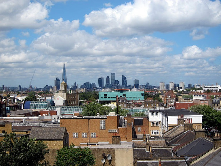 Gaze across London from the panoramic rooftop at Frank's Cafe