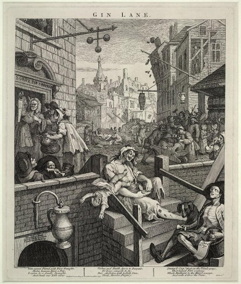 William Hogarth, Gin Lane, 1751