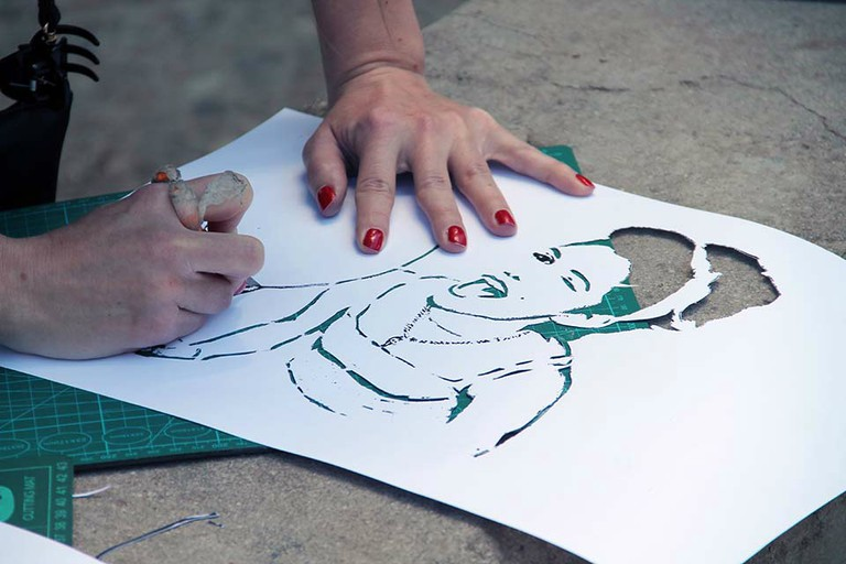 Learn how to make your own stencils with a street art tour and workshop