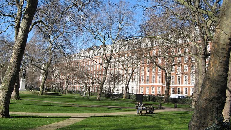 Grosvenor Square in winter