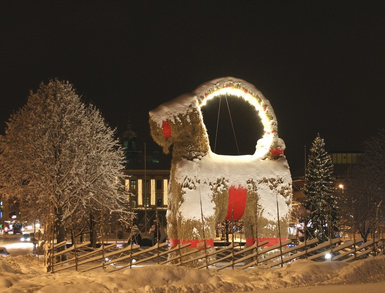 Bring home your own version of the famous Gävle Christmas Goat / Photo courtesy of Wikipedia Commons