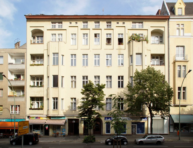 Apartment building on Hauptstraße 155 in Berlin, Schöneberg where David Bowie lived from 1976-1978