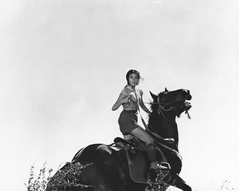 Misa Uehara as Princess Yuki in Kurosawa's The Hidden Fortress