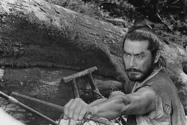 Toshiro Mifune as General Rokurota Makabe in Kurosawa's The Hidden Fortress