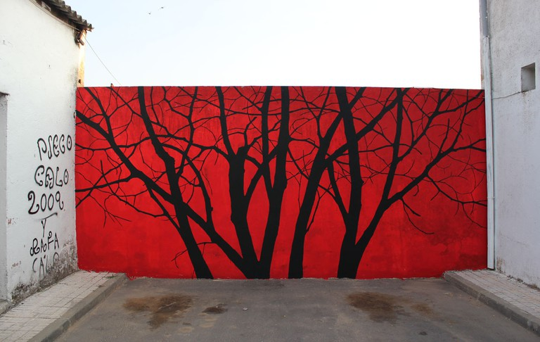 Street art mural in Salamanca. Photo courtesy of Pablosherrero.com