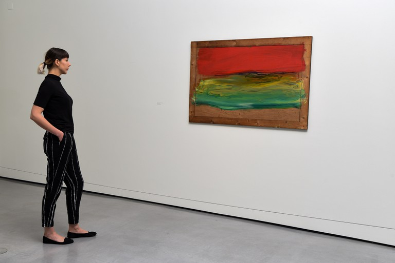 Installation view of Red Sky at Night, 2001-2011, Howard Hodgkin: Painting India