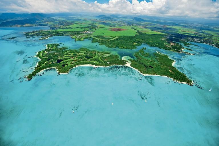 A view of Ile aux Cerfs island